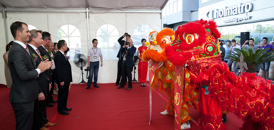 2012 - Official opening of division Holmatro Chin.jpg