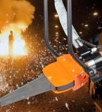 Holmatro introduces a Multi-rotatable foundry wedge for the easy processing of castings at any working height