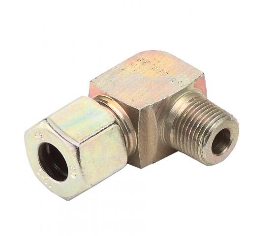 "Pipe Connector, 90 Degrees, 3/8""NPT EXT."