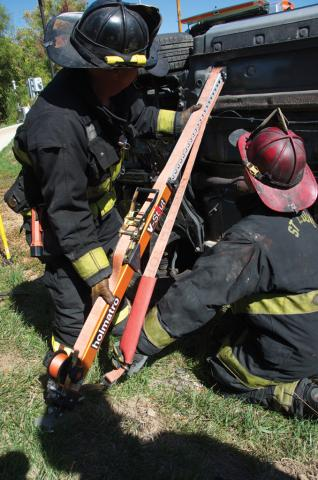 Rescue Experience St. Louis USA, use of V-strut
