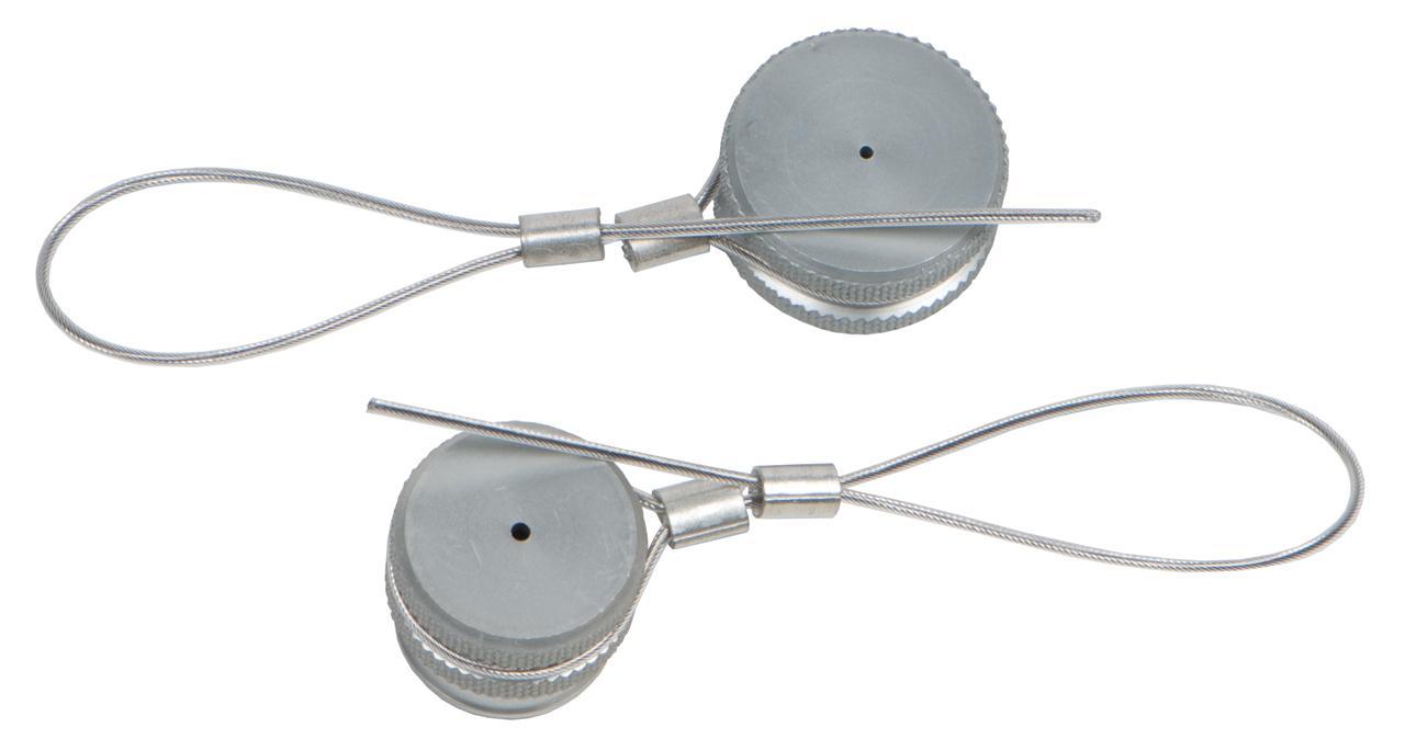 2 Staubschutzkappen aus Aluminium
