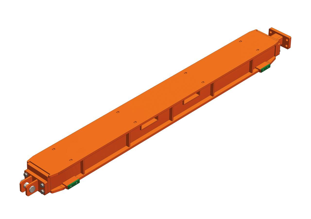 Skidding system, beam